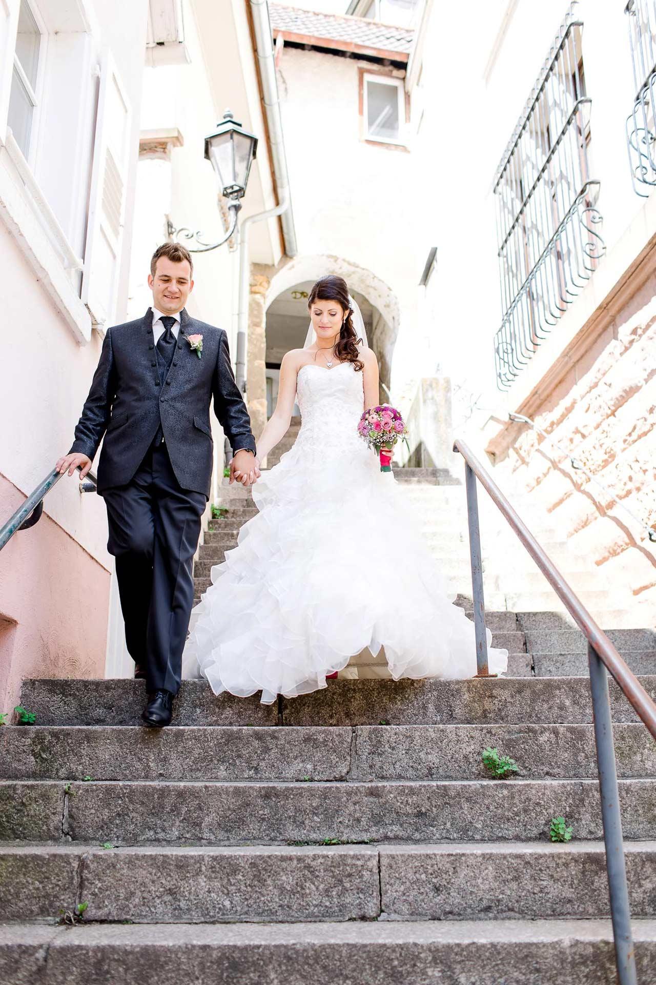 Hochzeitspaar Treppen